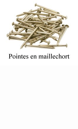 Clous en maillechort (pointes)